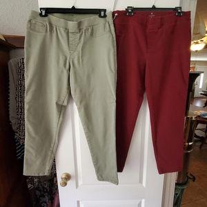 Bundle of comfort stretch pants Size XL
